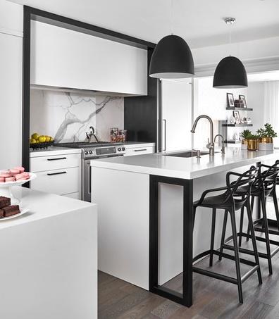 cozinhas em preto e branco
